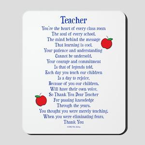 Teacher Thank You Mousepad