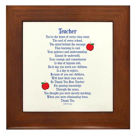 Teacher Thank You Framed Tile