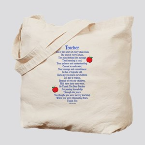 Teacher Thank You Tote Bag