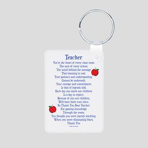 Teacher Thank You Aluminum Photo Keychain