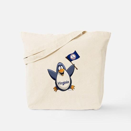 Virginia Penguin Tote Bag