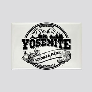 Yosemite Old Circle Rectangle Magnet