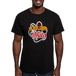 Akita Best Friend Men's Fitted T-Shirt (dark)