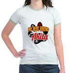 Akita Best Friend Jr. Ringer T-Shirt