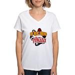 Akita Best Friend Women's V-Neck T-Shirt