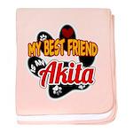 Akita Best Friend baby blanket