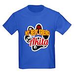 Akita Best Friend Kids Dark T-Shirt