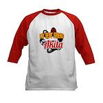 Akita Best Friend Kids Baseball Jersey