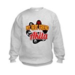 Akita Best Friend Kids Sweatshirt