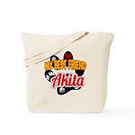 Akita Best Friend Tote Bag