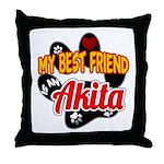 Akita Best Friend Throw Pillow