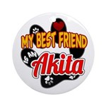 Akita Best Friend Ornament (Round)
