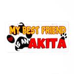 Akita Best Friend Aluminum License Plate