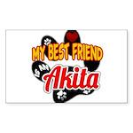 Akita Best Friend Sticker (Rectangle)