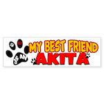 Akita Best Friend Sticker (Bumper)