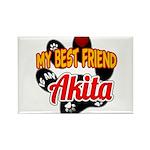 Akita Best Friend Rectangle Magnet