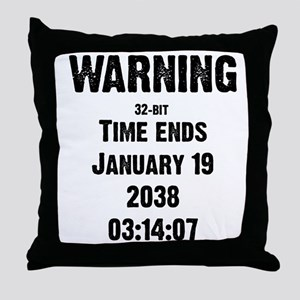 Unix End of Time Throw Pillow