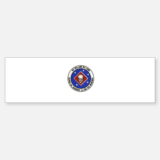 Funny 1st marines Sticker (Bumper)