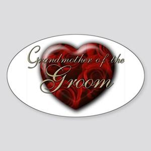 Grandmother of the Groom Oval Sticker