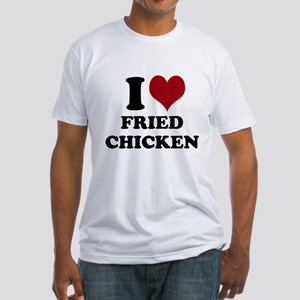 I Heart Fried Chicken Fitted T-Shirt