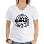 Grand Lake Old Circle Women's V-Neck T-Shirt