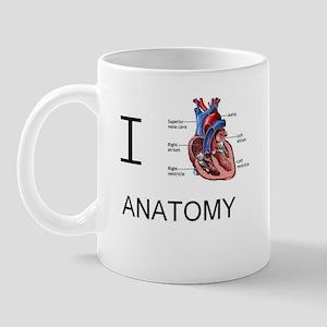 I heart anatomy Mugs