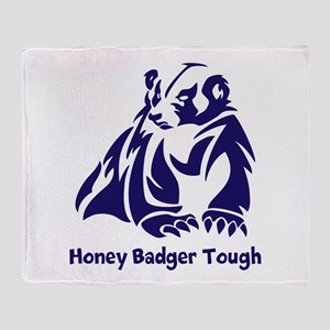 Honey Badger Tough Throw Blanket