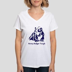 Honey Badger Tough Women's V-Neck T-Shirt