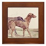 Irish Wolfhounds Framed Tile