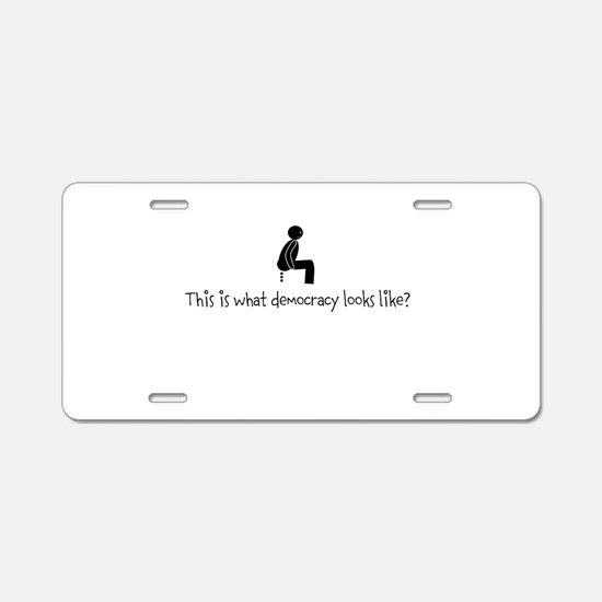 Cute Greed Aluminum License Plate