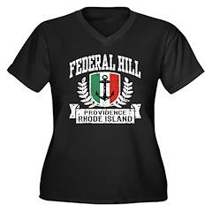 Federal Hill Italian Women's Plus Size V-Neck Dark