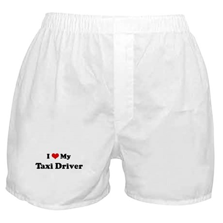 I Love Taxi Driver Boxer Shorts
