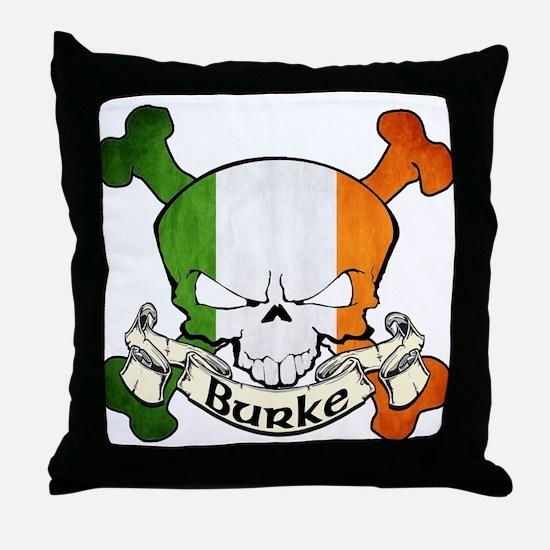 Burke Skull Throw Pillow