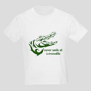 Never Smile (green) Kids Light T-Shirt