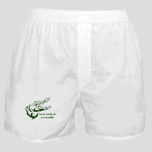 Never Smile (green) Boxer Shorts