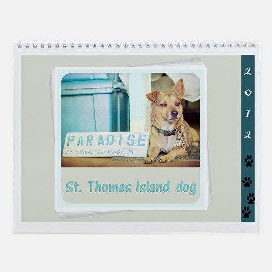 St. Thomas island dog Wall Calendar