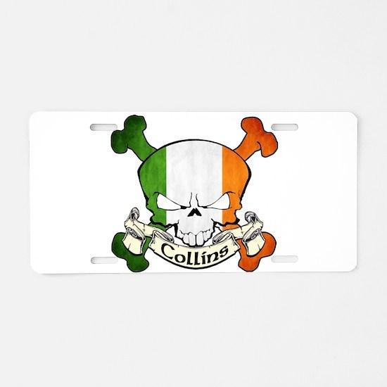 Collins Skull Aluminum License Plate