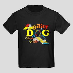 Border Collie Agility Kids Dark T-Shirt
