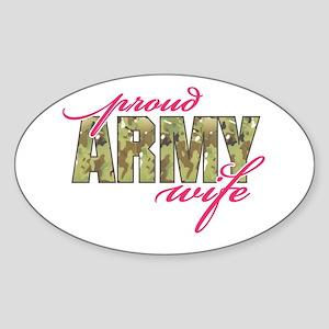 army wife multi cam Sticker