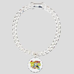 Border Collie Agility Charm Bracelet, One Charm