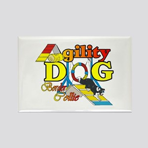 Border Collie Agility Rectangle Magnet (10 pack)