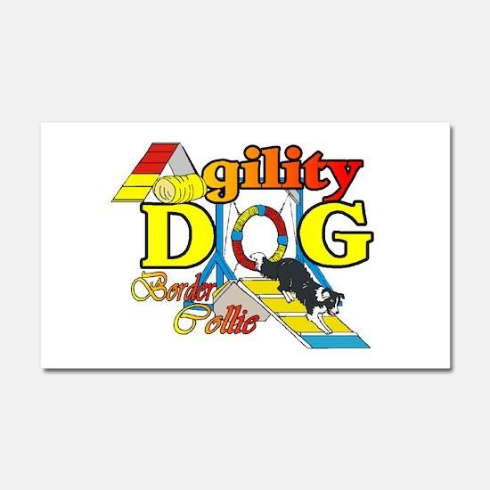 Border Collie Agility Car Magnet 20 x 12