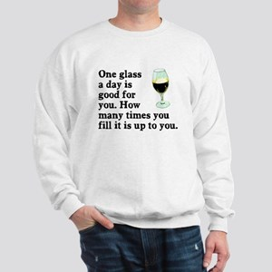 A Glass A Day Sweatshirt