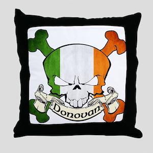 Donovan Skull Throw Pillow