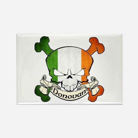Donovan Skull Rectangle Magnet