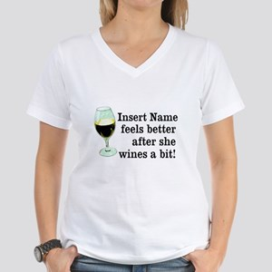 Personalized Wine Gift Women's V-Neck T-Shirt