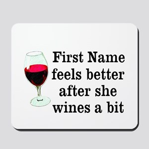Personalized Wine Gift Mousepad