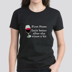 Personalized Wine Gift Women's Dark T-Shirt