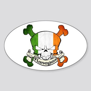 Flanagan Skull Sticker (Oval)