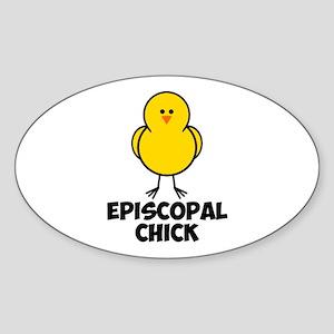 Episcopal Chick Sticker (Oval)